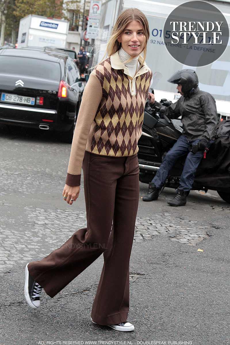 Streetstyle. Jaren '70 mode look