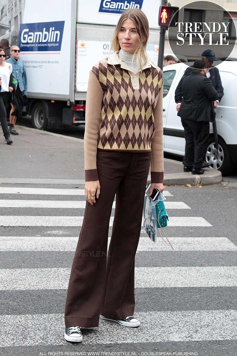 Streetstyle. Jaren '70 mode looks