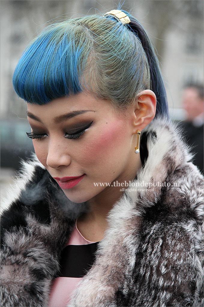 Blauwe haarkleur