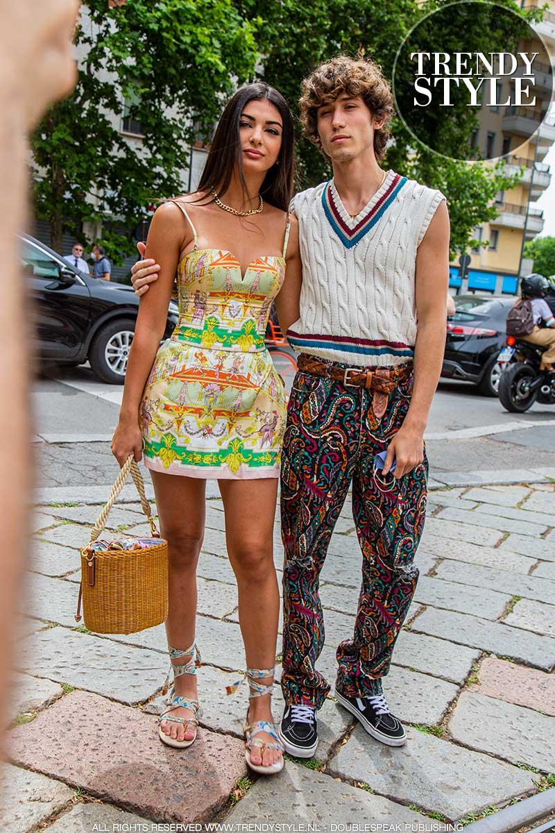 Modetrends en streetstyle mode vanuit Milaan. Trend alert: fantasieën en felle kleuren! Men's Fashion Week zomer 2022