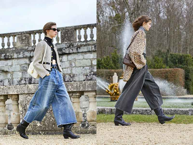 Modetrends herfst winter 2021 2022. Wijde spijkerbroeken