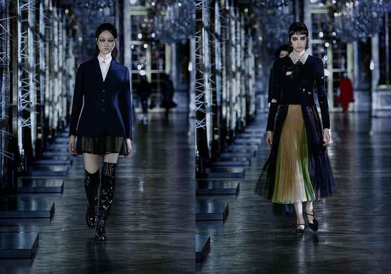 Modetrends herfst winter 2021 2022. Plooirokken. Photos: courtesy of Dior