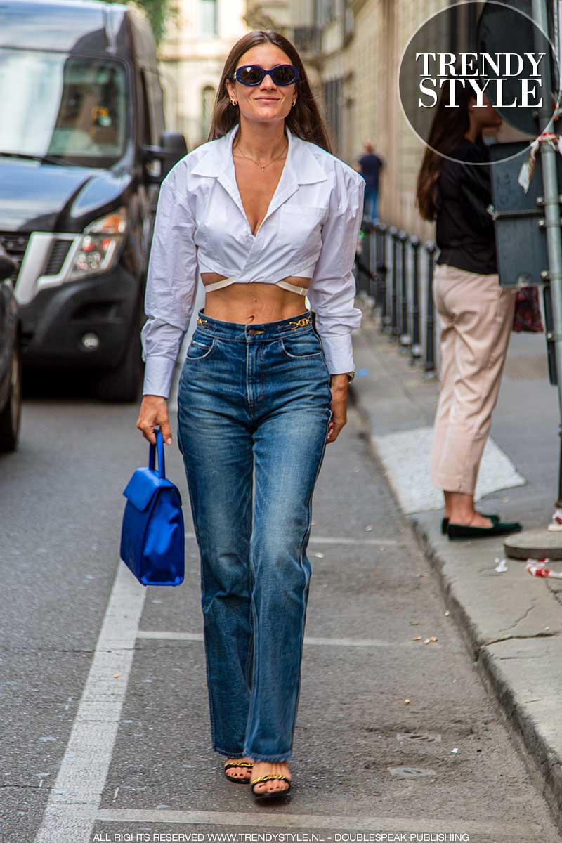 Streetstyle mode zomer 2021. 3x Witte blouses