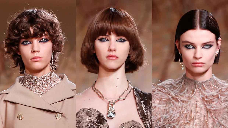 5x korte en halflange kapsels voor winter 2021. Photo: courtesy of Dior Haute Couture FW 2021 2022
