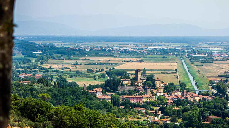 Vicopisano, Toscane. Reizen. Italië