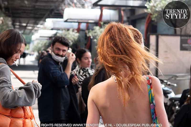 Streetstyle fashion foto's Milan Fashion Week 2022