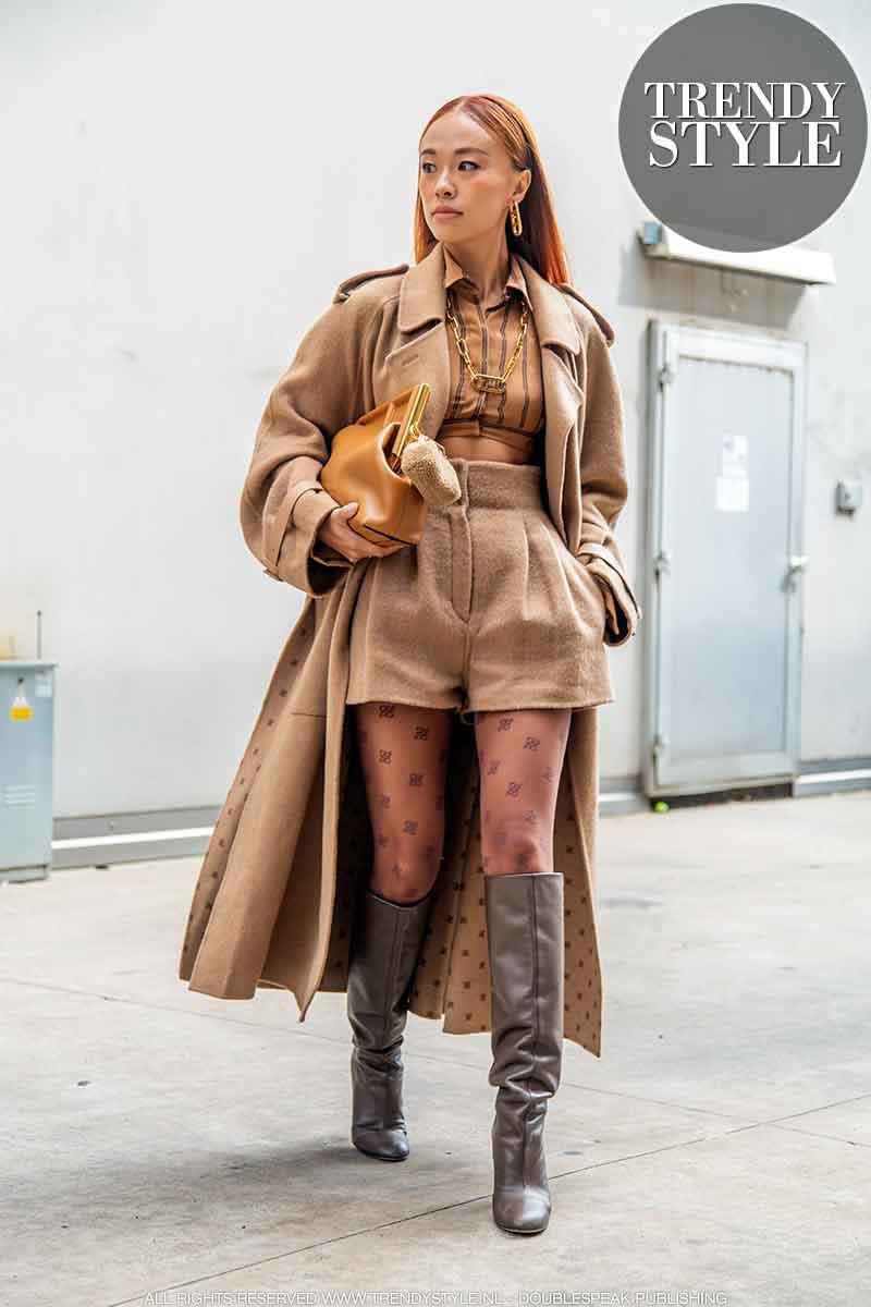 Streetstyle mode bij Fendi. Mode inspiratie voor jouw winter 2021 look