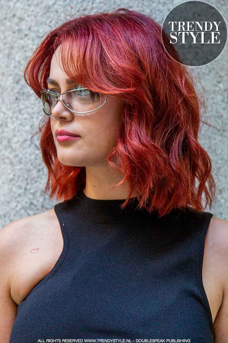 Haarkleurtrends herfst winter 2021 2022. Rood haar