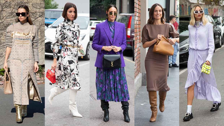 Modetrends winter 2021 2022: lange jurken