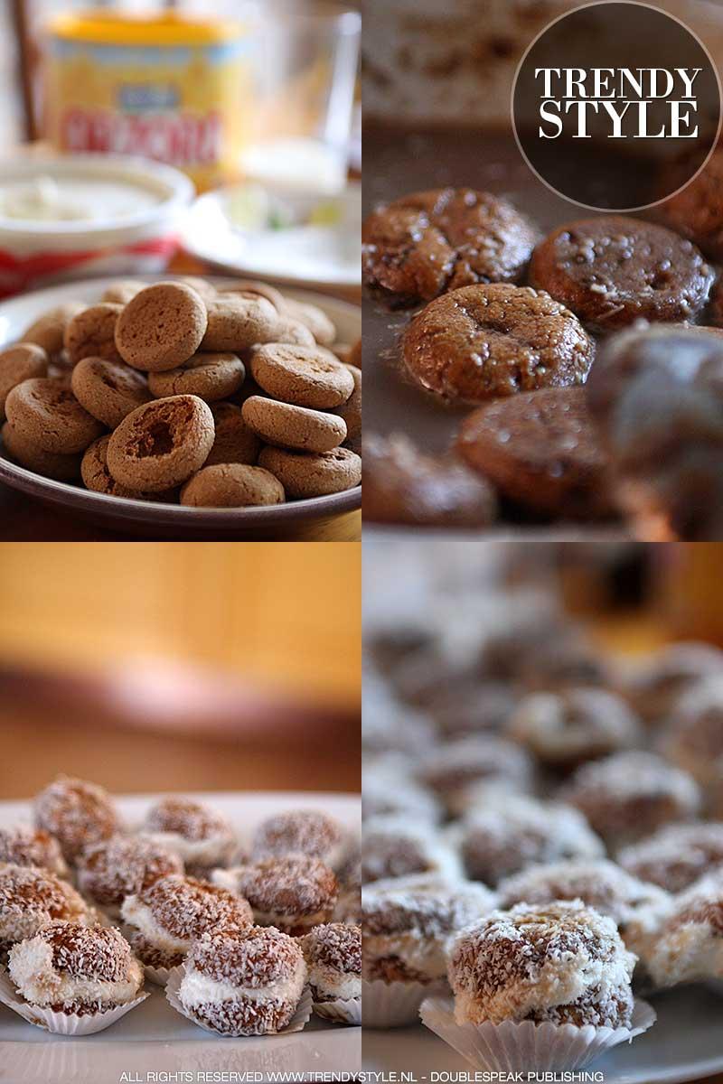 Amaretti koekjes met mascarpone en kokos