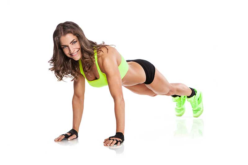 Fitness trend. Body Weight Workout