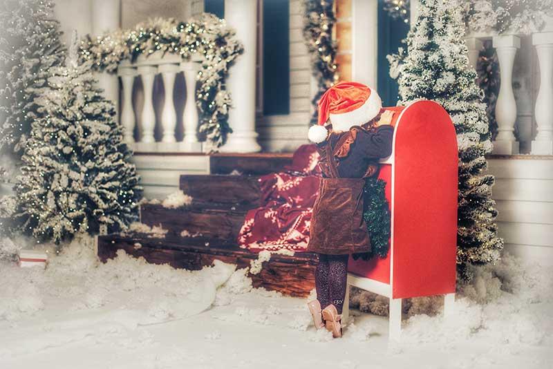Bang voor de brievenbus. Kerstkaarten zijn stresskaarten