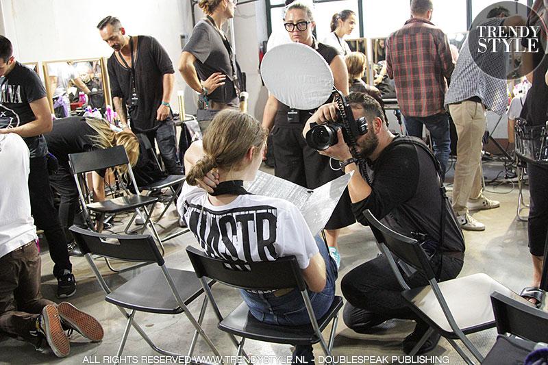 Milan Fashion Week zomer 2017, backstage bij N21, ph. Charlotte Mesman