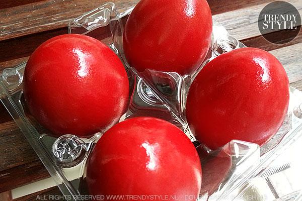 Chinese rode eieren voor baby's geluk
