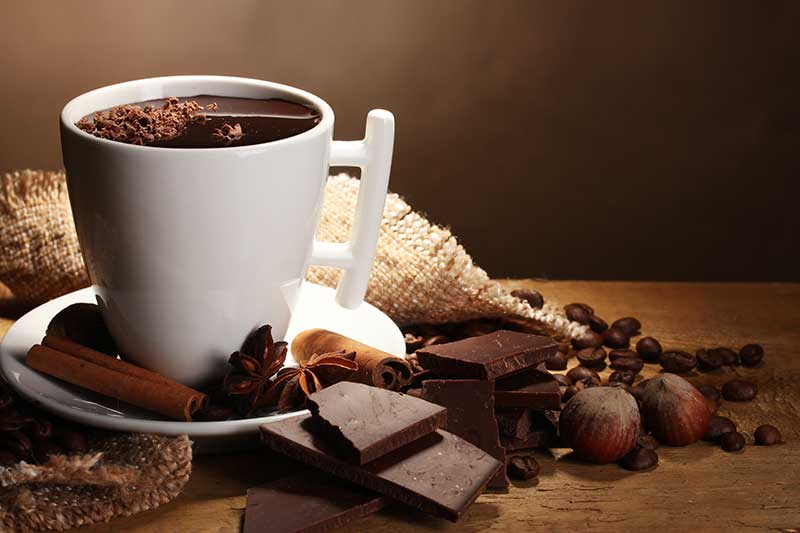 Echte warme chocolademelk