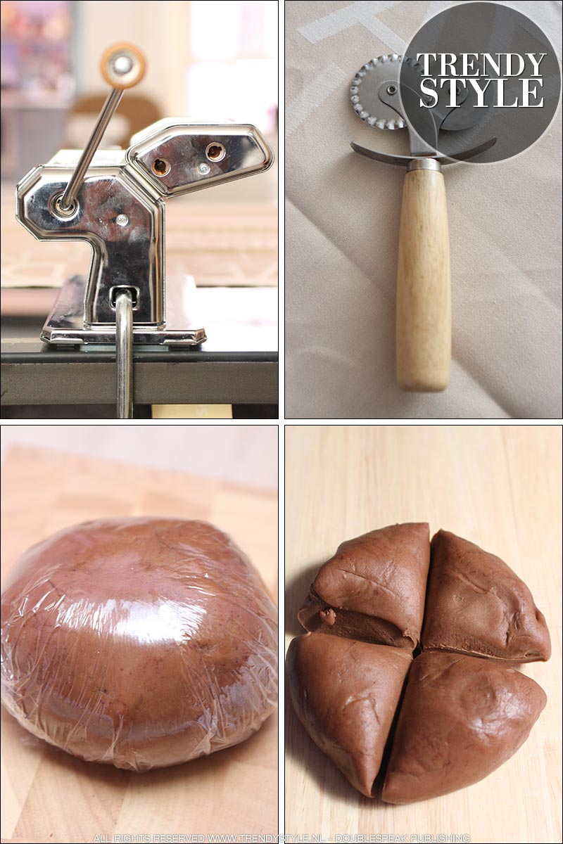 Chocolade pasta recepten. Chocoladeravioli en chocoladetagliatelle