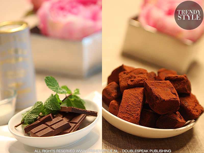 Chocoladetruffels. Als zoete kussen