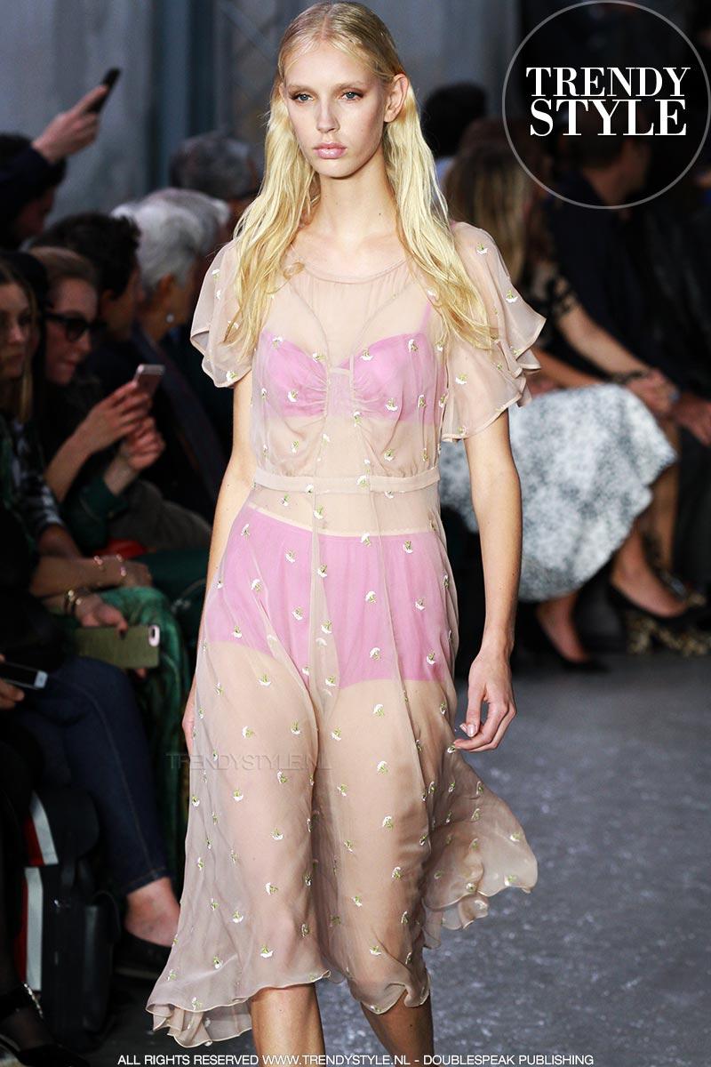 Mode zomer 2018. Doorzichtige jurken