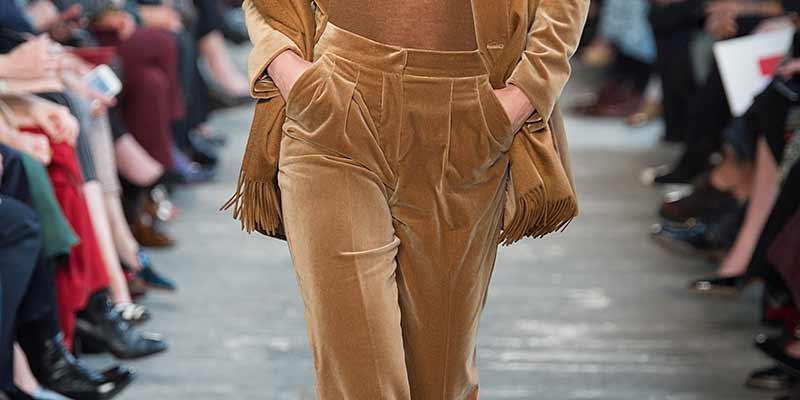 Fluwelen broeken en fluwelen broekpakken. Max Mara