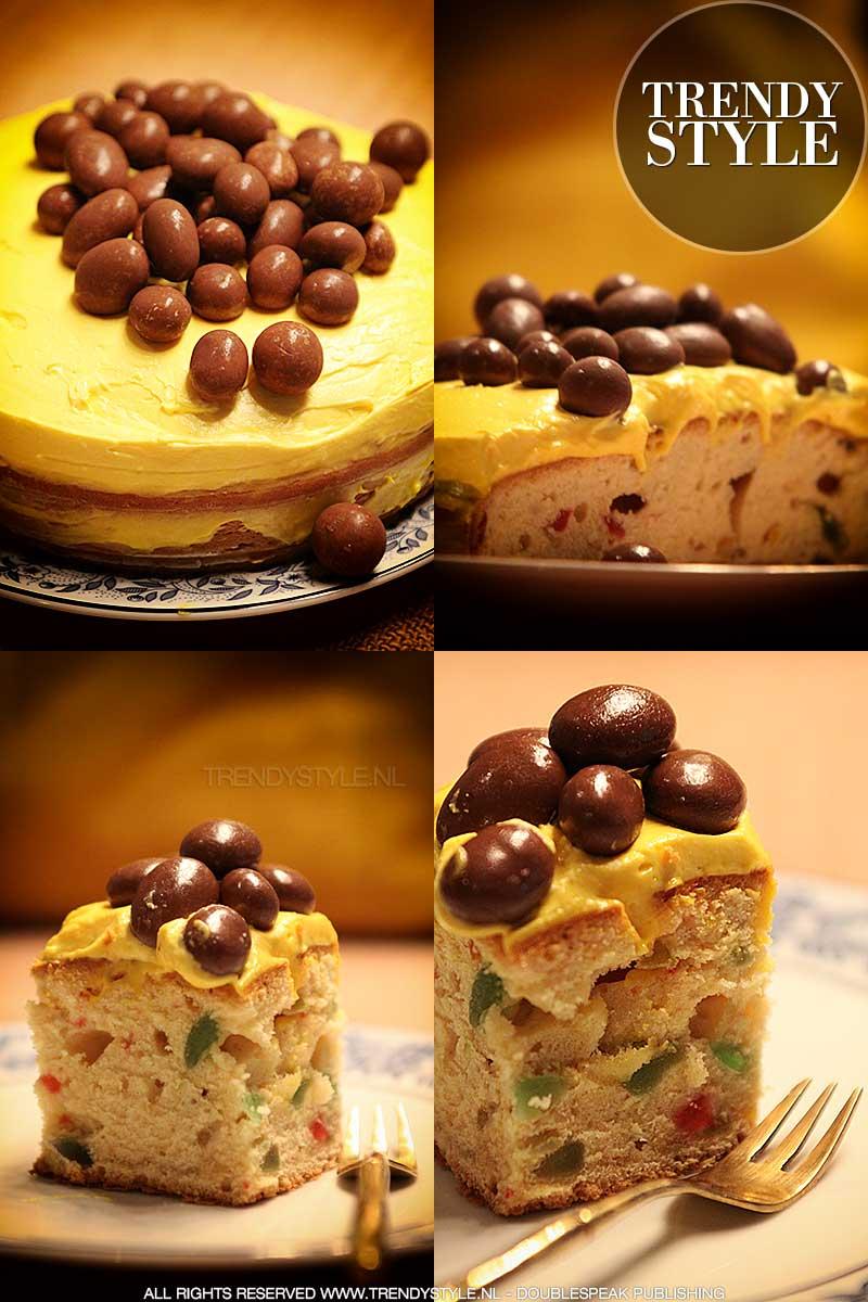 Fruitcake voor Pasen