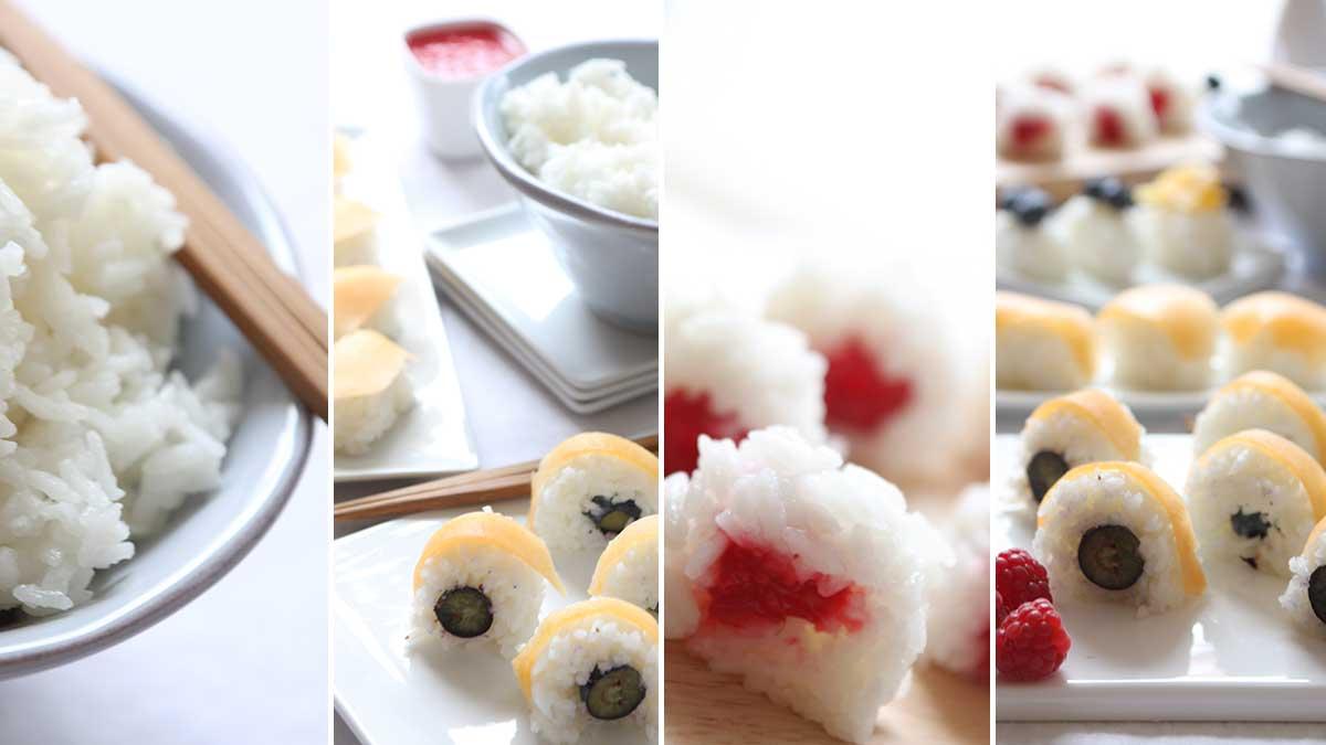 Sooo frushi! Sushi met vers fruit in plaats van rauwe vis