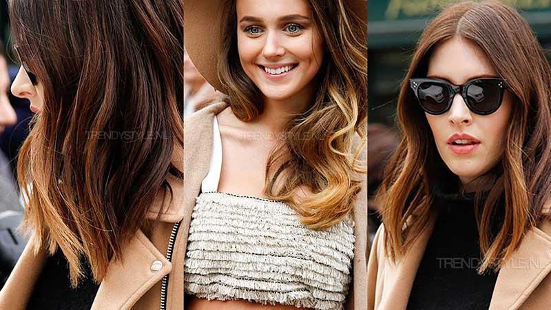 Haarkleurtrends zomer 2020. Zongekust haar met money piece highlights