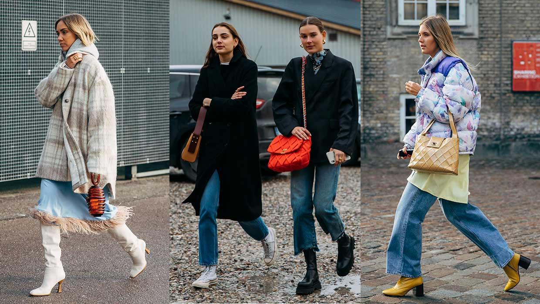 Streetstyle mode winter 2020 2021. Chillaxen in hippe holiday looks. Copenhagen Fashion Week