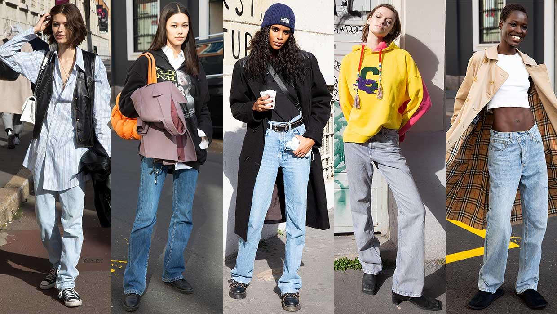 Streetstyle mode 2021. Spijkerbroeken trends