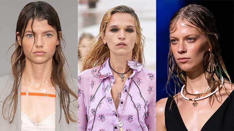 Haartrends lente zomer 2021. Hair styling trend: wet look kapsels!