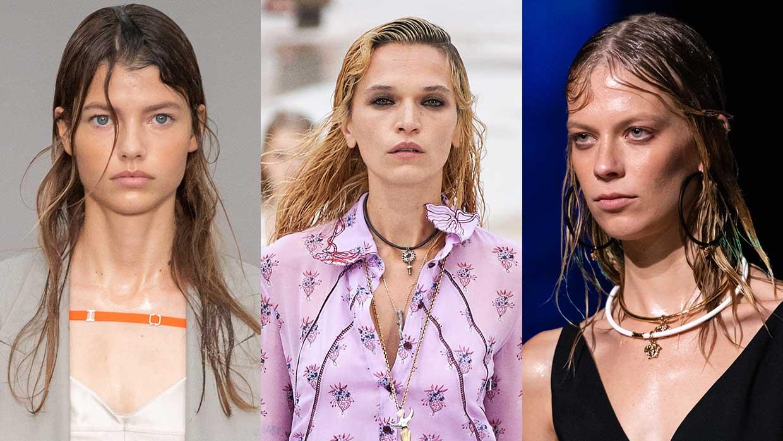 Haartrends lente zomer 2021. Hair styling trend: de wet look