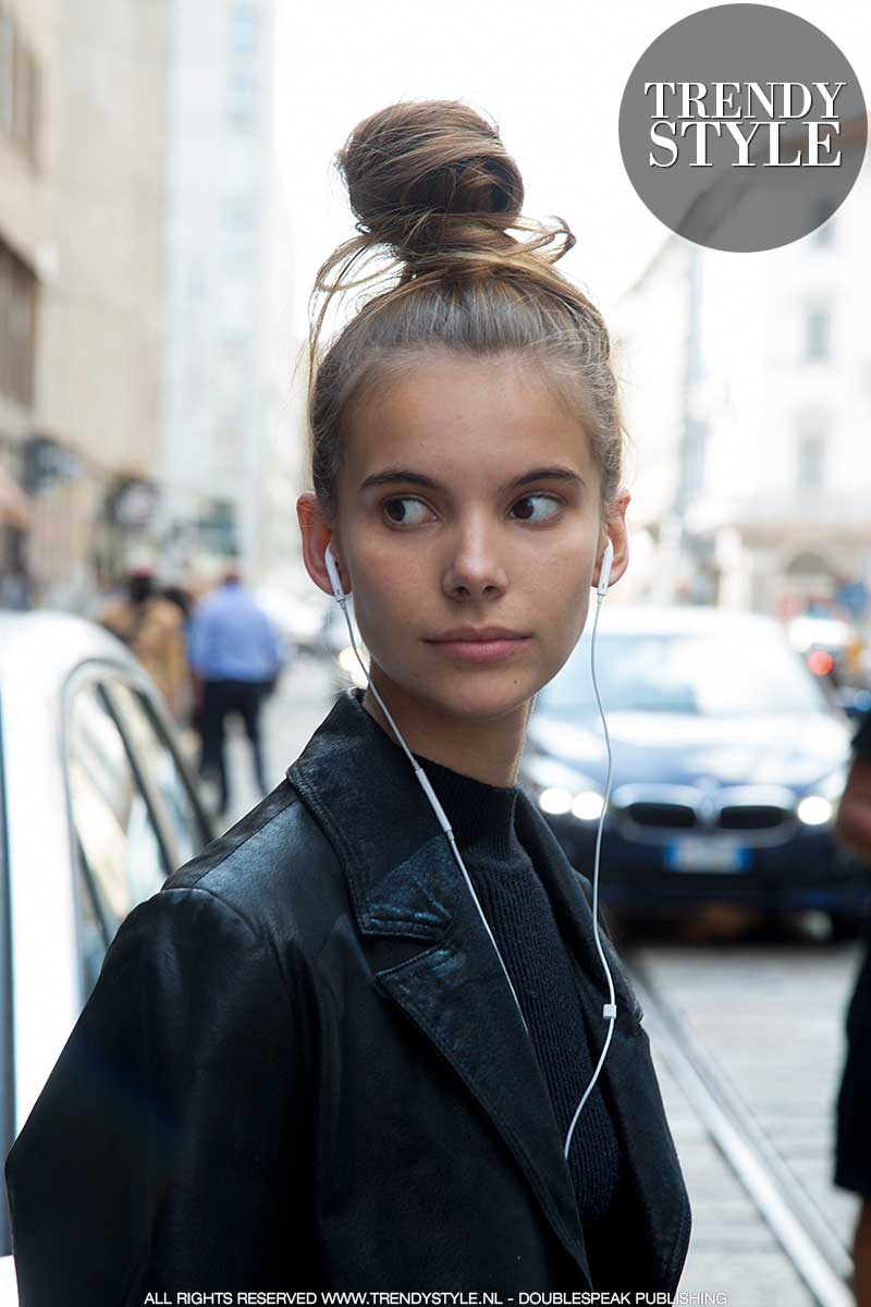 Kapseltrends winter 2020. Hairstyling. Topknot