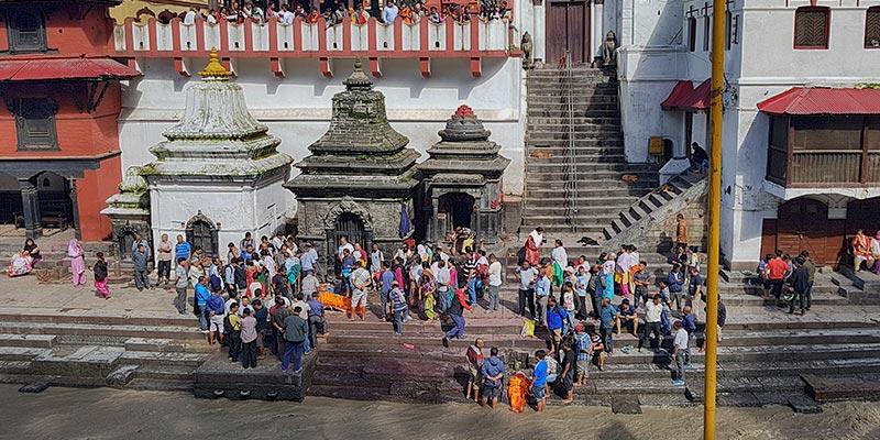 Kathmandu, Nepal. Pashupatinath Tempel