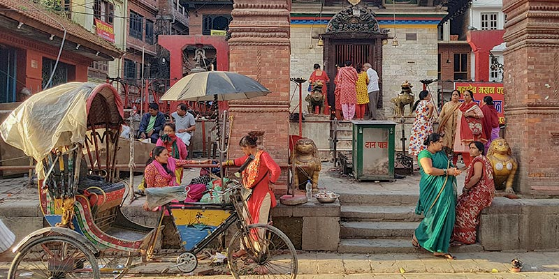 Reis naar Kathmandu, Nepal. Durbar Square