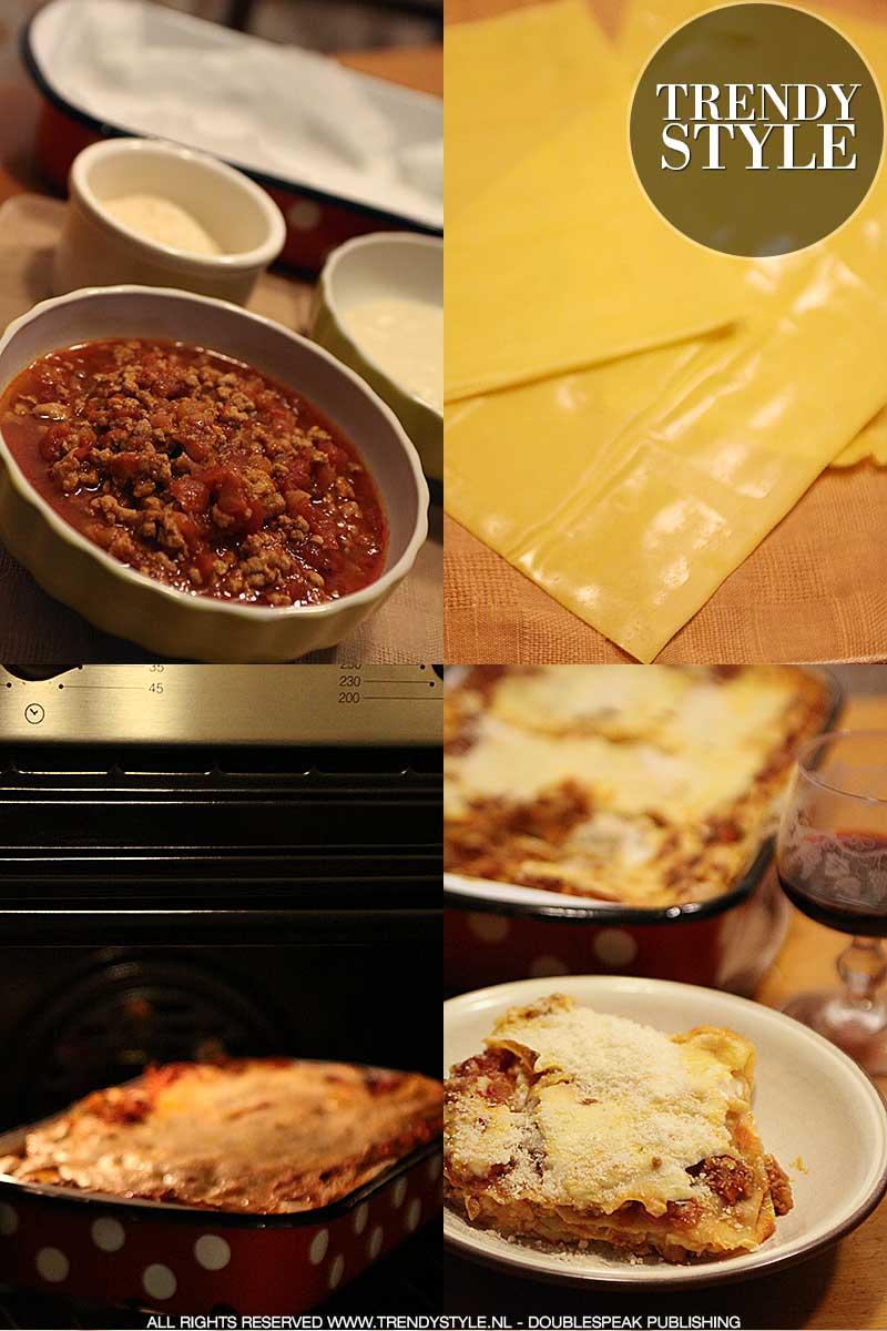Lasagne in de oven