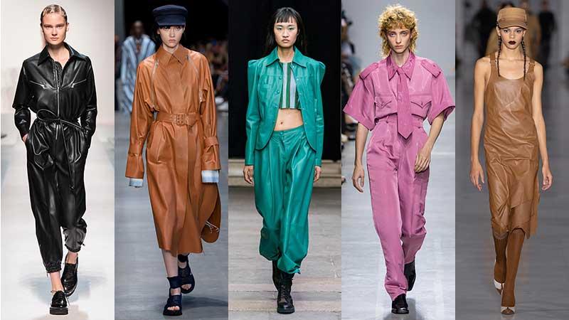 Verwonderend Nieuwste modetrends lente zomer 2020. (Kunst)leer is cool QB-78