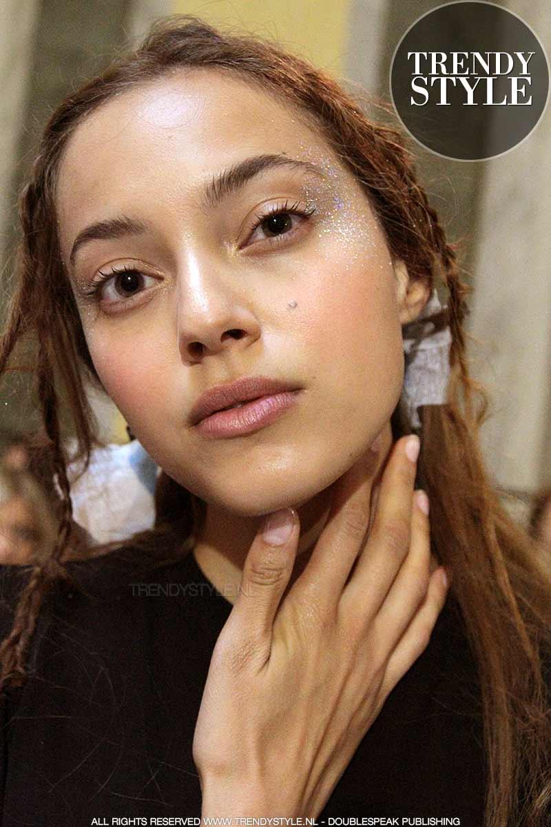 Make-up 2018. Glitter oogmake-up