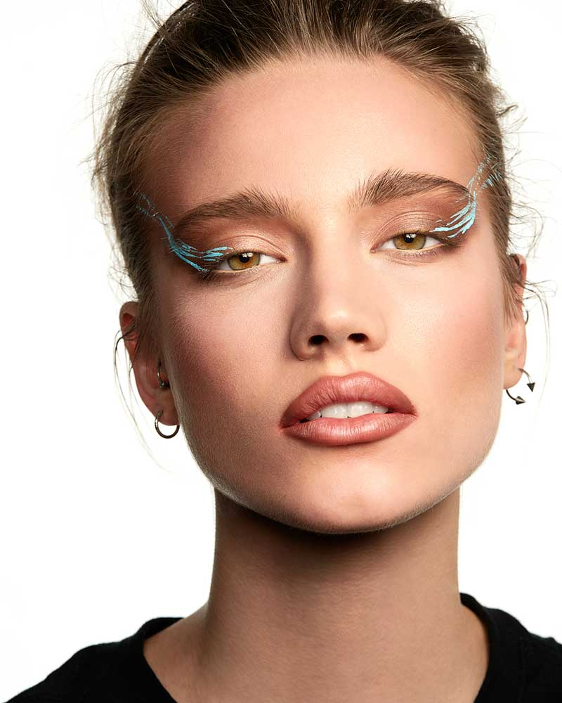 Make-up trends 2021. Avant garde make-up. Neutrals