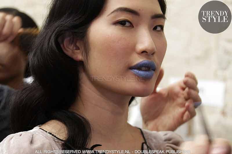 Blauwe lippenstift