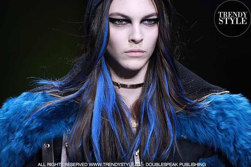 Blauw haar trend