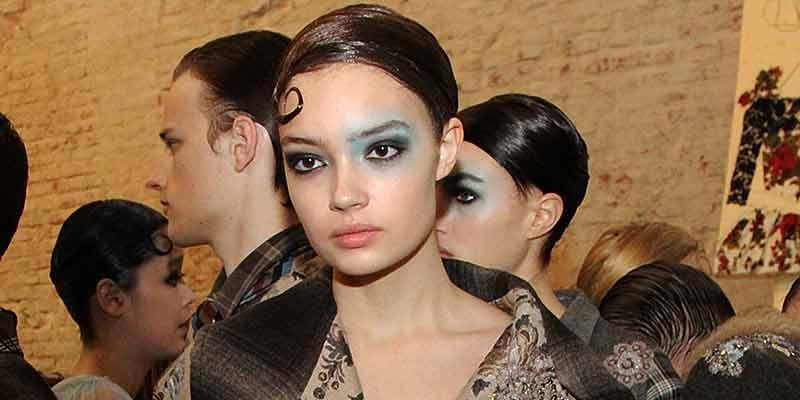 Blauwe make-up