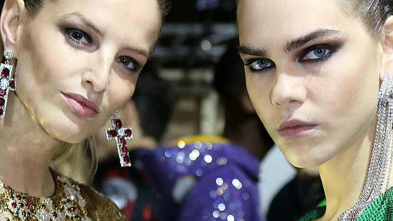 Make-up trends winter 2020 2021. Heftig! Zware smokey eyes, kilo's kohl, nepwimpers