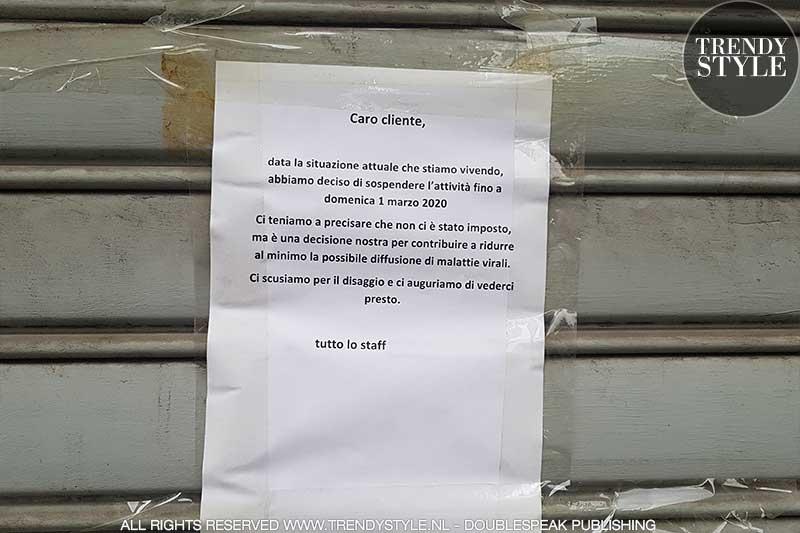 Coronavirus in Milaan. Live report