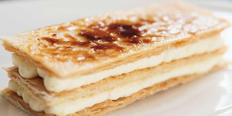 Millefoglie, Italiaans dessert van bladerdeeg en room