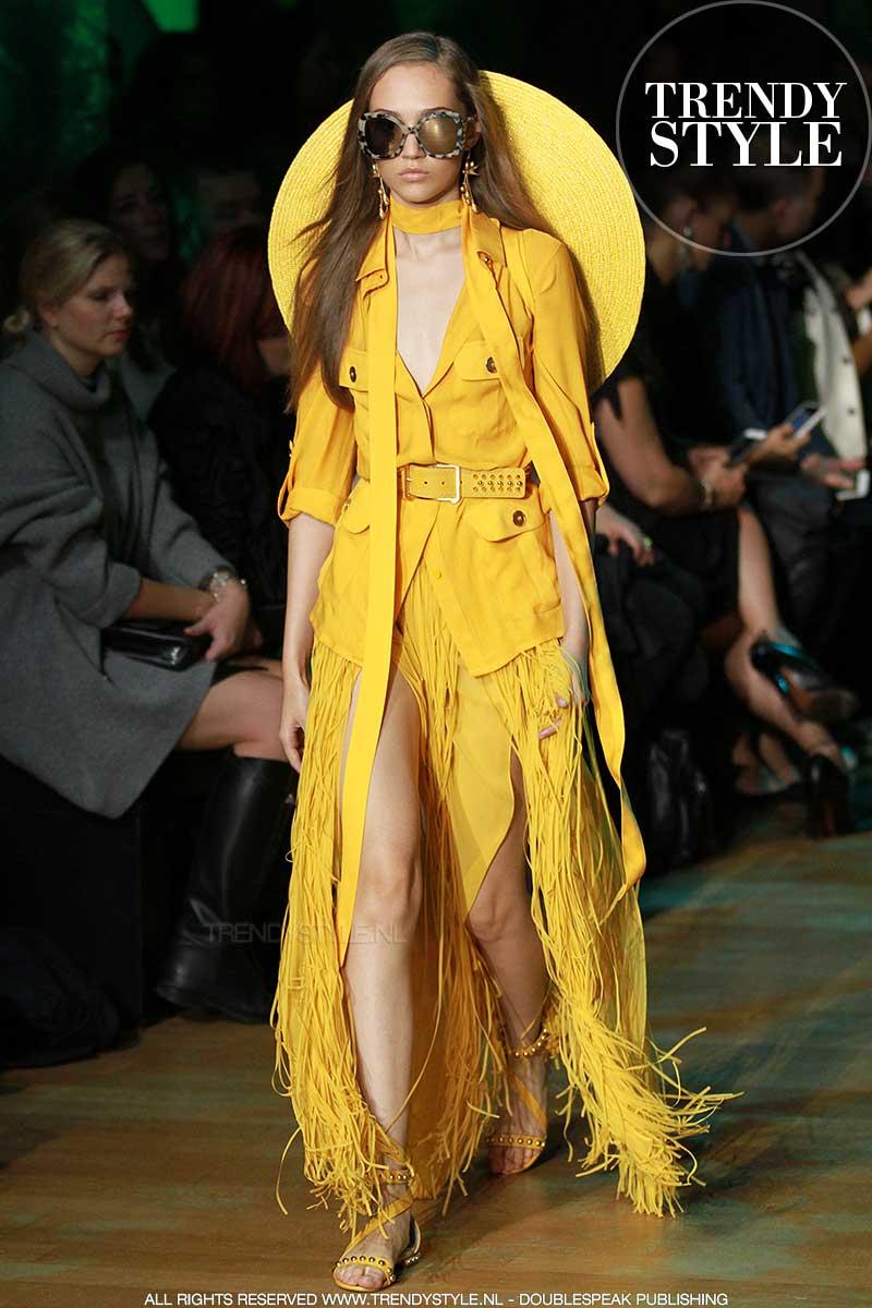Modekleur geel. Elie Saab lente zomer 2018, ph. Mauro Pilotto