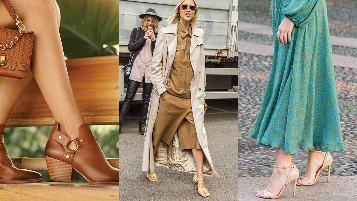 Mode accessoires zomer 2020. Naturel schoenen voor langere benen