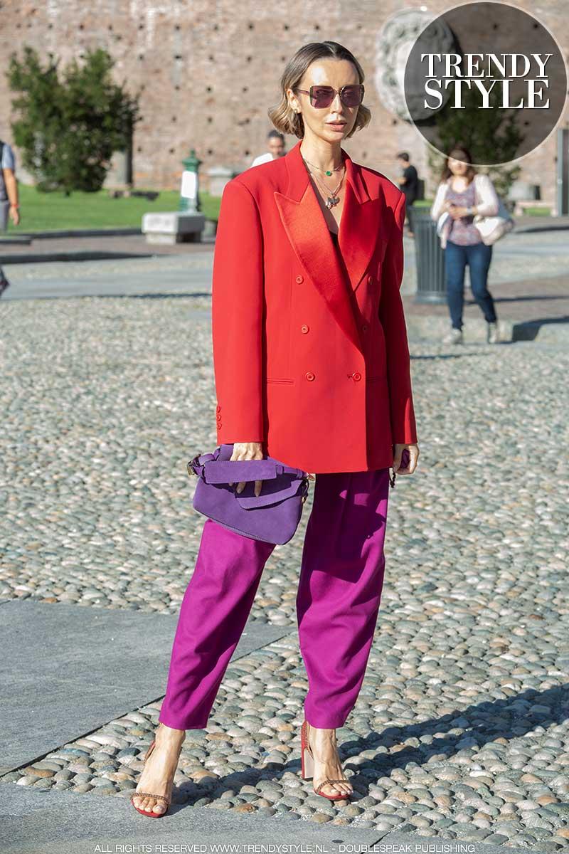 Modetrends herfst 2020. Deze kleurcombinatie is red-hot