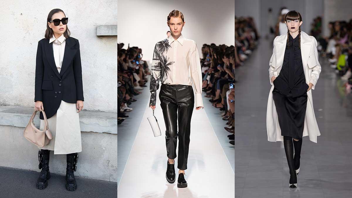Modetrends lente zomer 2020. Zwart en wit combineren