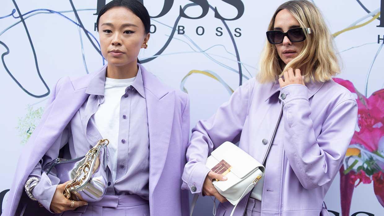 Modetrends voorjaar 2021. Minimal looks zijn dé trend. Streetstyle Milan Fashion Week zomer 2021
