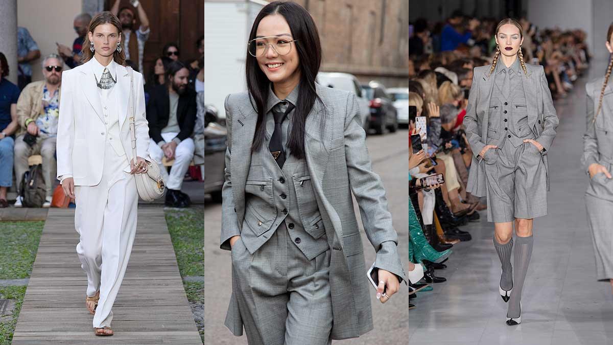 Modetrends lente zomer 2020. Dassen, strikken en gilets voor dames