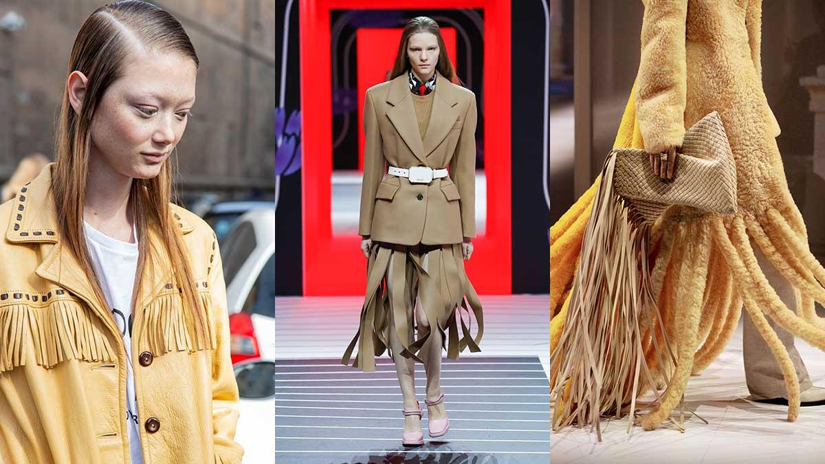 Modetrends herfst winter 2020 2021. Franjes